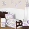 Lavender and White Suzanna Toddler Bedding - 5pc Set by Sweet Jojo Designs