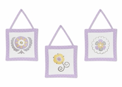 Lavender and White Suzanna Wall Hanging Accessories by Sweet Jojo Designs