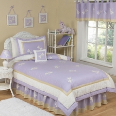 Lavender Dragonfly Dreams Children's Bedding - 4 pc Twin Set