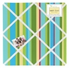 Layla Turquoise Lime Floral Fabric Memory/Memo Photo Bulletin Board by Sweet Jojo Designs