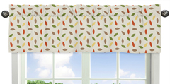 Leaf Print Window Valance for Forest Friends Collection by Sweet Jojo Designs