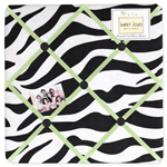 Lime Funky Zebra Fabric Memory/Memo Photo Bulletin Board
