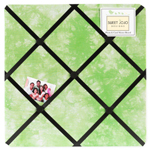 Lime Groovy Peace Out Tie Dye Fabric Memory/Memo Photo Bulletin Board