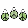 Lime Groovy Peace Sign Tie Dye Wall Hanging Accessories by Sweet Jojo Designs