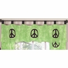 Lime Groovy Peace Sign Tie Dye Window Valance by Sweet Jojo Designs