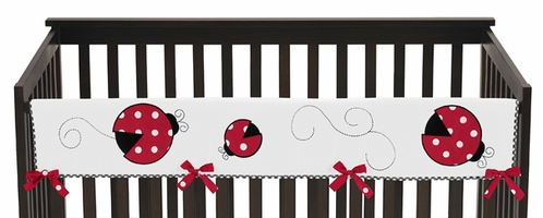 Little Ladybug Baby Crib Long Rail Guard Cover by Sweet Jojo Designs - Click to enlarge