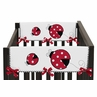 Little Ladybug Baby Crib Side Rail Guard Covers by Sweet Jojo Designs - Set of 2