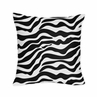 Microsuede Black and White Zebra Animal Print Decorative Accent Throw Pillow