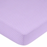 Mod Dots Purple and Brown Fitted Crib Sheet for Baby and Toddler Bedding Sets by Sweet Jojo Designs - Mini Dot