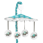 Mod Elephant Musical Baby Crib Mobile by Sweet Jojo Designs