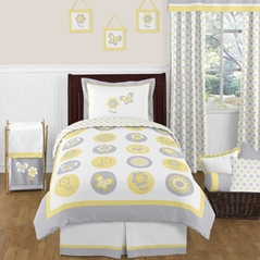 Mod Garden Childrens and Kids Bedding - 4pc Twin Set by Sweet Jojo Designs