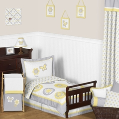 Mod Garden Toddler Bedding - 5pc Set by Sweet Jojo Designs