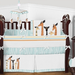 Mod Giraffe Baby Bedding - 9pc Boys Girls Crib Set by Sweet Jojo Designs