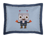 Modern Robot Pillow Sham by Sweet Jojo Designs