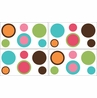 Modern Deco Dot Baby, Childrens and Teens Wall Decal Stickers - Set of 4 Sheets
