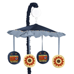 Modern Robot Musical Baby Crib Mobile by Sweet Jojo Designs