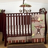 Monkey Baby Bedding - 4pc Boys Crib Set
