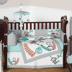Monkey Business Baby Bedding - 9 pc Crib Set by Sweet Jojo Designs