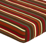 Monkey Fitted Crib Sheet for Baby/Toddler Bedding Sets - Multi Stripe
