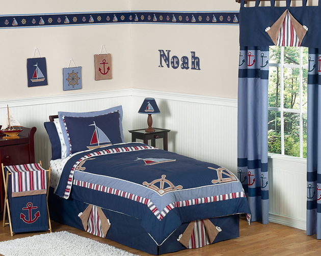 sailboat toddler bedding sets 3