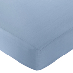 Nautical Nights Fitted Crib Sheet Baby/Toddler Bedding - Chambray Blue