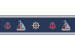 Nautical Nights Sailboat Baby and Kids Wall Border by Sweet Jojo Designs
