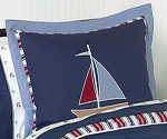 Nautical Nights Sailboat Boys Pillow Sham
