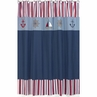 Nautical Nights Sailboat Kids Bathroom Fabric Bath Shower Curtain