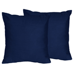 Navy Decorative Accent Throw Pillows for Chevron Collection - Set of 2