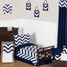 Navy and White Chevron Toddler Bedding - 5pc Set by Sweet Jojo Designs