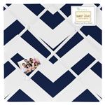 Navy and White Chevron Zig Zag Fabric Memory/Memo Photo Bulletin Board