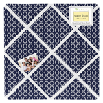 Navy and White Hexagon Fabric Memory/Memo Photo Bulletin Board for Sweet Jojo Designs Arrow Sets