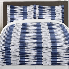 Navy and White Metro 3pc Teen Full / Queen Bedding Set Collection by Sweet Jojo Designs