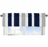 Navy Blue and Gray Stripe�Collection Window Valance by Sweet Jojo Designs