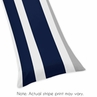 Navy Blue and Gray Stripe Full Length Double Zippered Body Pillow Case Cover