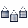 Navy Blue and Grey Plaid Wall Hanging Accessories by Sweet Jojo Designs
