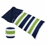 Navy Blue and Lime Green Stripe Boys Kids Childrens Toddler Sleeping Bag