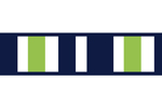 Navy Blue and Lime Green Stripe Childrens and Teens Modern Wall Paper Border