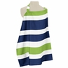 Navy Blue and Lime Green Stripe Infant Baby Breastfeeding Nursing Cover Up Apron by Sweet Jojo Designs