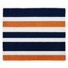 Navy Blue and Orange Stripe Accent Floor Rug by Sweet Jojo Designs