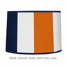 Navy Blue and Orange Stripe Lamp Shade by Sweet Jojo Designs