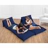 Navy Blue Kids Teen Floor Pillow Case Lounger Cushion Cover by Sweet Jojo Designs