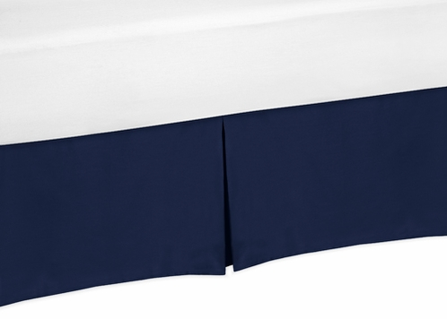 navy blue bed skirt for blue whale collection