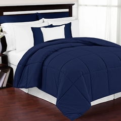 Navy Down-Alternative Comforter Duvet Cover Insert<br> Available in Twin, Queen & King Sizes