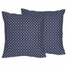 Navy Hexagon Print Decorative Accent Throw Pillows - Set of 2