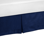 Navy Queen Bed Skirt for Modern Blue and Lime Stripe Bedding Sets