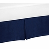 Navy Queen Bed Skirt for Navy Blue and Gray Stripe Bedding Sets