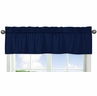 Navy Window Valance for Navy Blue and Orange Stripe�Collection by Sweet Jojo Designs