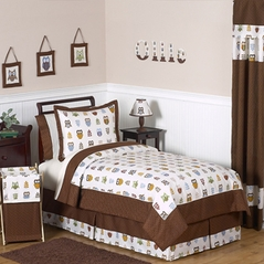 Night Owl Childrens Bedding - 3 pc Full / Queen Set