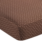 Night Owl Fitted Crib Sheet for Baby/Toddler Bedding - Tonal Mini Leaf Print